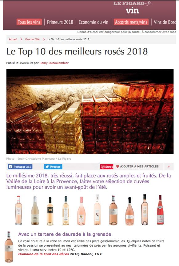 bandol rosé 2018 meilleur